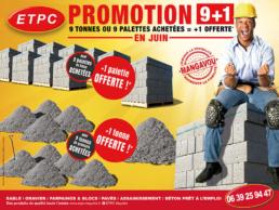 promotions etpc 9 palettes achetees 1 offerte